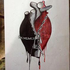 Sentimentos  #tattoo #tattooart #tatuagem #ilustração #canetabic #arte #desenho #draw #drawin #desenhando #coração #heart #linhatorta