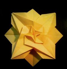 Instructions For Making Folding An Origami Sun
