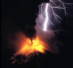 Stormy weather & volcano