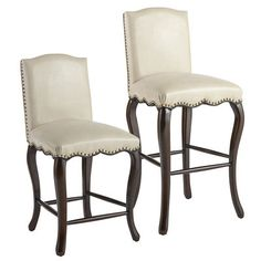 How you gonna keep 'em down on the farm after they've seen Paree? Just give 'em <i>eiffel</i> of Claudine's country French styling, smooth ivory upholstery, scalloped apron, nailhead trim and alluring cabriole legs. Tailored to perfection.