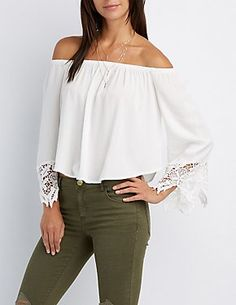 Off the Shoulder Tops & Bardot Tops | Charlotte Russe