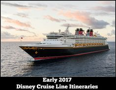In 2017, Disney Cruise Line returns to the Caribbean, Bahamas & Castaway Cay. Puerto Rico, & Galveston, complete the line-up for the first part of the year.