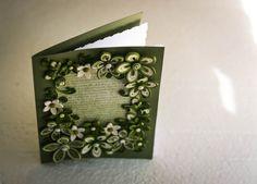 Fresh flowers greeting card