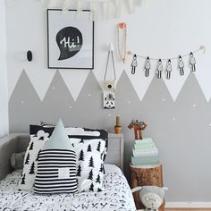 Kids bedroom mountain wall / @selinej