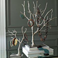 cast metal jewelry tree | west elm