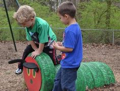 recycled tires as VHC #recycedtyres #aboutthegarden.com.au