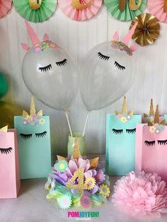 Unicorn Balloons, set of 2 Unicorn Party Balloons 11 Inch, Unicorn Party Decor and Birthday Decor, Unicorn Balloon Kit