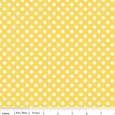 Yellow dot fabric Small Dots by Riley Blake Designs     Half Yard of Polka Dots. $4.45, via Etsy.