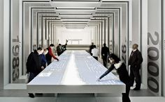 BMW Museum, Munich, Germany: ATELIER BRÜCKNER. Interactive panels. #interactiveTable