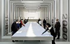 BMW Museum, Munich, Germany: ATELIER BRÜCKNER. Interactive panels. #interactiveTable