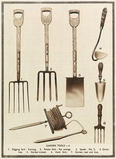antique English garden tools I have most of these at 1877
