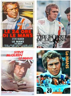 Steve McQueen movie posters for Le Mans