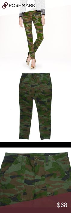 "New JCREW Skinny Utility Chino Pants in Camo NWOT. These new skinny utility Chino Pants in Camo from JCREW feature a skinny leg style, and front pockets. Made of a cotton blend. Measures: waist: 30"", rise: 9"", hips: 38"", inseam: 29"" J. Crew Pants Skinny"