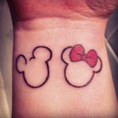 I love Mickey and Minnie Mouse tattoo. Love disney tattoos
