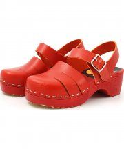 Swedish Hasbeens red Baskemölla Child shoes