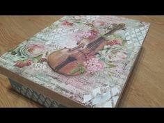 Caja decoupage con violin