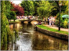 River Windrush, Bourton On The Water, Glouestershire. This place is simply magical.. loved it there!