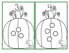 Pumpkin Patch Nibbles - This is a set of hands-on counting cards (1-15) for early learners and special education featuring pumpkins and a hungry little mouse.