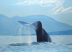 Walfischflosse Neuware  direkt vom Künstler auf Leinwand