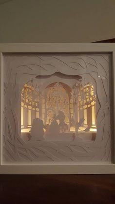 Tale as Old as Time….Beauty and the Beast inspired Light up Shadow Box – Ben Basquez Tale as Old as Time….Beauty and the Beast inspired Light up Shadow Box Tale as Old as Time….Beauty and the Beast inspired Light up Wall Art Crafts, 3d Paper Crafts, Enchanted Rose, Origami, Shadow Box, Beauty And The Beast Diy, Foam Carving, Pop Up Art, Winnie The Pooh
