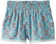 Joey B Girls 7-16 Joey B Patterned Soft Fringe Trim Shorts