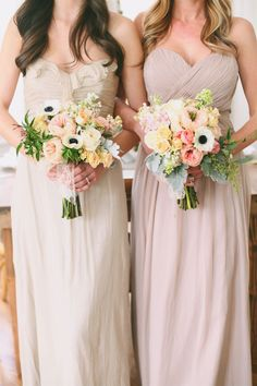 Dresses and bouquet