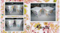 Macetas - Pintura sobre porcelana