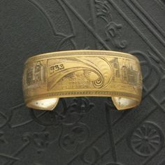 World's Fair 1933 Chicago. Brass Cuff.