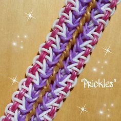 "NEW ""Prickles"" Rainbow Loom Bracelet/How To Tutorial"