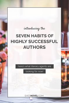 Hey, friends! Today I am so excited to host my first guest writer of 2016.  Maria Ribas is a literary agent and the super awesome author behind the  website, Cooks and Books.  Today, she's here to talk to us all about a few of the habits highly  successful authors practice that make literary agents want to jump for joy.  Believe me, this is some amazing insight. Don't miss out! Without any  further ado, allow me to hand it off to the lovely Maria...