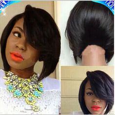 Cheap wig, Buy Quality wig black directly from China wigs for sale cheap Suppliers:    Cheap Short Bob Wigs For Black Women Heat Resistant Synthtic Wigs With Full Bangs Brown/Blue Ombre Bob Wig Rihanna Ha
