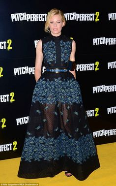 Elegant: Elizabeth Banks hit the London screening of Pitch Perfect 2 on Thursday as she made her directorial debut