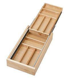 """Rev-A-Shelf Two-Tier Wood Cutlery Drawer Organizer Trays 15"""" RS4WTCD.15.1"""