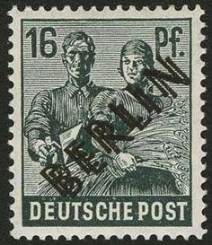 Berlin, Michel 7 DD, 16 Pfg black overprint in perfect condition mint never hinged with double Berlin overprint, perfect centered outstanding quality, signed twice Schlegel BPP, € 1,100.-