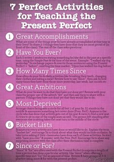 activities for teaching present perfect