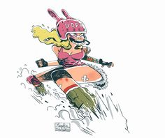 roller derby character on Behance