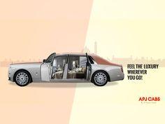 APJ CABS - Luxury Car Rentals Campaign Poster