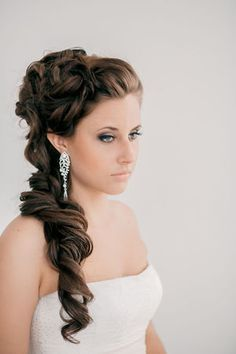 Wedding Hairstyles ~ Loose Long Locks with updo & neutral make-up