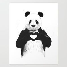 All you need is love Art Print by Balazs Solti. Worldwide shipping available at Society6.com. Just one of millions of high quality products available.