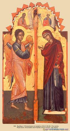 """ΜΡ.ΘΥ__Παναγια """" ο Ευαγγελισμος""""     _march 25                   (Icons of the Monastery of St. Paul's, Mount Athos."""