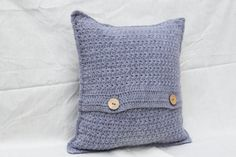 Crochet Cushion Cover, Grey Cushion Cover, Wool Cushion Cover, Grey Throw Pillow, Grey Scatter Cushion, Scatter Cushion, Accent Cushion, Decorative Cushion, Decorative Pillow, Throw Cushion, Throw Pillow