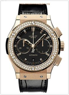 4a3d17ed940 Buy this Hublot Classic Fusion Chronograph King Gold Diamond here at  Exquisite Timepieces