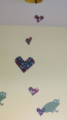'Hanging origami hearts ' is going up for auction at 12pm Wed, Nov 14 with a starting bid of $4.