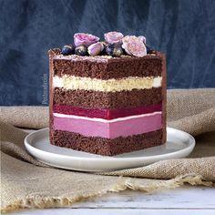 Cake Fillings, Cake Flavors, Mini Cakes, Cupcake Cakes, Cake Chart, Creative Birthday Cakes, Chocolate Cherry Cake, Russian Cakes, Cake Recipes