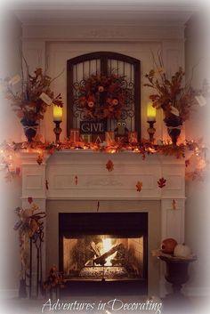 Our 2013 Fall Mantel #AutumnColors #HometalkTuesday :: Hometalk