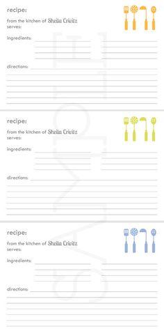 cook book recipe cards