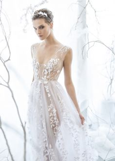 Mira Zwillinger / Bridal Gowns / Fine Hand Embroidery / View more: http://thelane.com/the-lane/mira-zwillinger