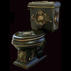 renaissance kitchen and bath Gothic House, Victorian Gothic, Victorian Toilet, Gothic Mansion, Gothic Furniture, Cool Furniture, Toilette Design, Toilet Art, Goth Home Decor