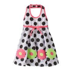 She'll look so stylish and modern wearing this girls' Blueberi Boulevard polka-dot floral halter dress by Blueberi Boulevard. In black/white. Baby Girl Dresses, Baby Dress, Polka Dots, Summer Dresses, Black And White, Flower, Stylish, How To Wear, Shopping