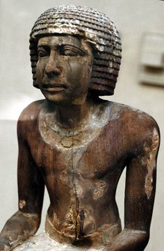 Dynasty 6 Statue of Kaiemsenuwy, Overseer of the Granary for King Teti. His tomb was found near Teti's Pyramid complex at Saqqara.